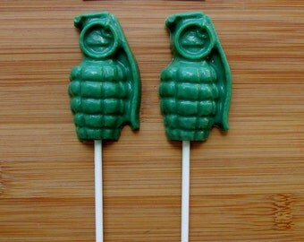 GRENADE Chocolate Pops (12) - Army Party
