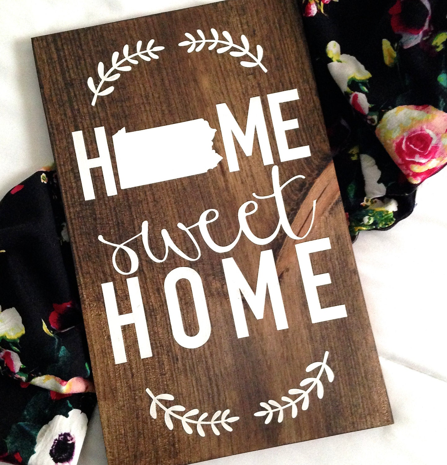 Home Sweet Home Sign Home Decor Wooden Home Sign Wooden