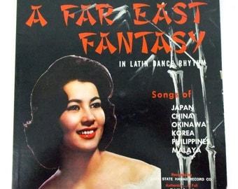 A Far East Fantasy Latin dance Rhythm 49th State Hawaii 3455 Vinyl LP Record