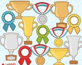 Trophy Prize Award Clip Art and Lineart