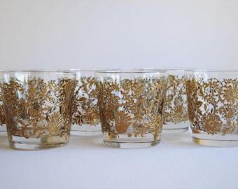 Vintage Floral Glasses, s/6