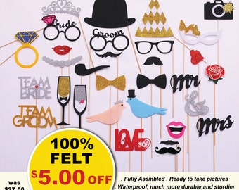 30 pc Unique Wedding gift photo booth props. Wedding photo props