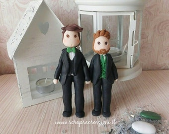 gay wedding cake topper