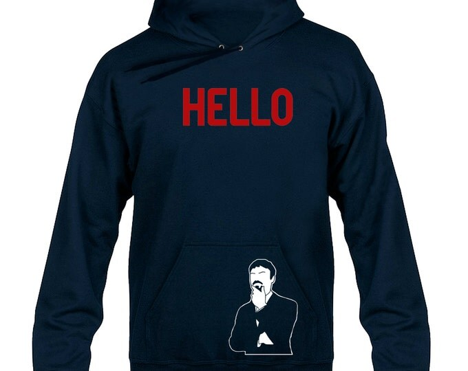 Ashens HELLO Hoody Hoodie Hooded Sweater (With Pocket Decal)