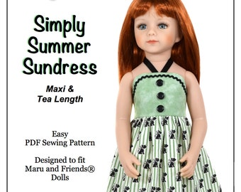 Pixie Faire Love U Bunches Simply Summer Sundress Doll Clothes Pattern for Maru and Friends Dolls - PDF