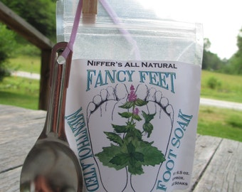 Niffer's All Natural Fancy Feet-Mentholated Food Soak 6.5 oz.