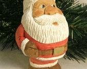 Santa Claus Wood Carving Art Sculpture Home Decor