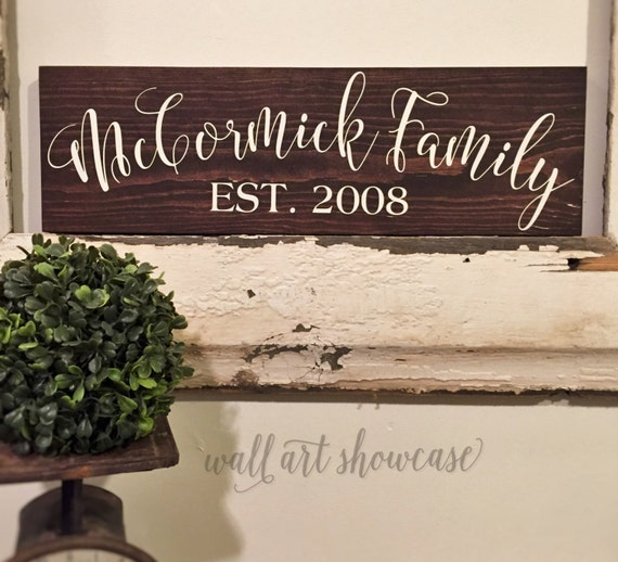 Family Name Hand Painted Wood Sign Wood Sign By