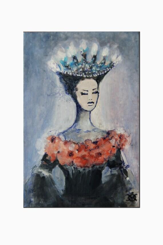 Fine Spirit Art Painting acrylic on Canvas  Original Modern