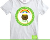 St. Patrick's Day Iron On Transfer - Pot Of Gold Iron On - Personalized Iron On - Rainbow Iron On - Digital and Printed Available
