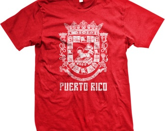 Puerto Rico Coat of Arms, Puerto Rican Pride, San Juan,  Country Crest, Symbol, Nationality, Mens Puerto Rico T-shirts GH_02171_tee