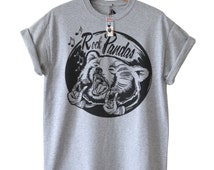 Mens Panda Tshirt,  Bear Tshirts, White Tees, Graphic Grey Tshirt, Available In 3 Colours, in sizes S, M, L and XL