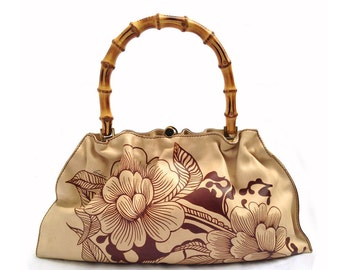 Gucci Tom Ford Floral Bamboo bag
