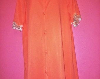 Vintage Peach Nightgown, Size M