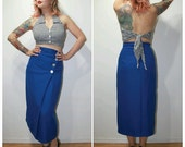 Kills the High waist suspenders pencil skirt