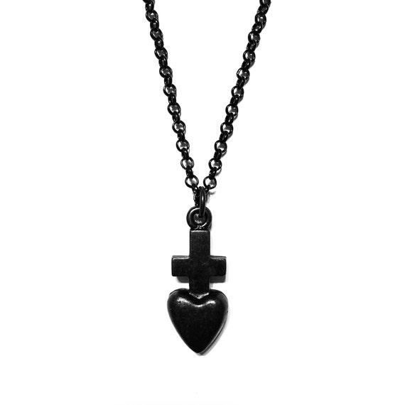 promise black series black necklace masculine necklace