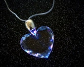 LED Heart Necklace / 90's Jewelry / Rave Necklace / Cyber / Club Kid / LED Necklace / EDC / Rave / Rave Light Accessory / Light Up Necklace