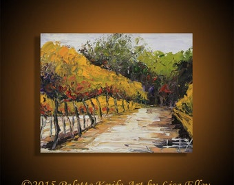 Napa Valley Painting, Commission Art, California Painting, 8x10, Vineyard Vines, Custom Painting, Vineyard Painting, Wine Country Art,