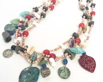 Vintage Native American Treasure Necklace