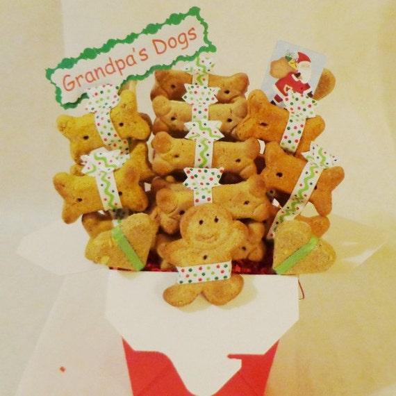 Etsy Dog Gift Baskets : Items similar to christmas dog treat gift basket