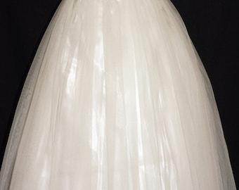 1950s Strapless Wedding Dress Sz 2 Vintage Retro