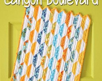 Mini Canyon Boulevard quilt pattern by Sassafras Lane Designs - mini quilt pattern, modern quilt, scrap quilt, mini pattern, fat quarter
