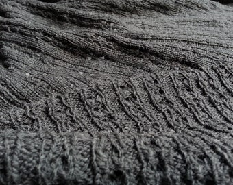 Wool Openwork Rib Sweater Knit by the Half Yard