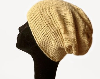 Slouch Beanie Hat / Womens Summer Hat/ Knit Hat / Gift / Eco Friendly Hat