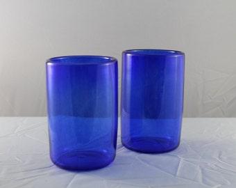 Blown Glass Tumblers - Blue