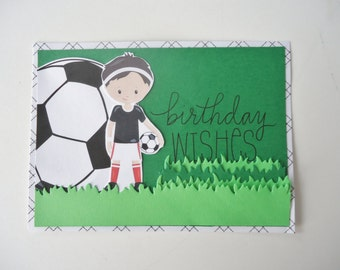 soccer greeting card  etsy, Birthday card
