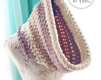 Ready to Ship / Hooded Cowl / Hooded Scarf / Crochet Cowl / Snood Hood / Chunky Cowl / Neck Warmer / Sale // Pebbles & Pearls  //