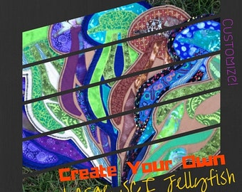 Create Your Own. Custom. String Cheese Incident Jellyfish Patch. LARGE. SCI. Batik Fabrics.  Handmade.  Iron-On. Made to Order.