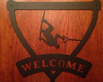 Wakeboard Welcome Sign