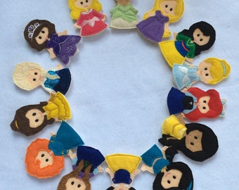 Pretty Princess Finger Puppets - Sold Individually or as a Set
