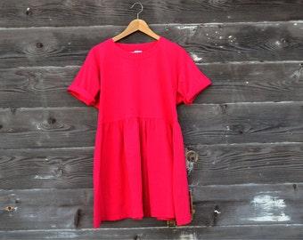 SALE: Vintage Hanna Andersson T-Shirt Mini Baby Doll Dress - Size Medium
