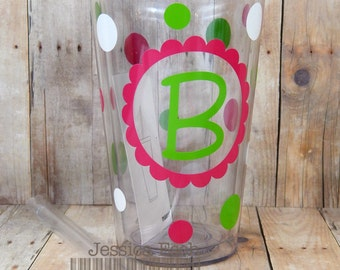 Personalized 16oz  Acrylic Tumbler~ Customized and Personalized for You