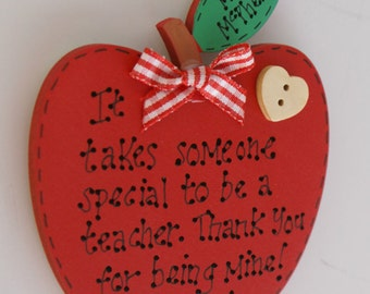 Personalised Teacher Gift Apple Magnet