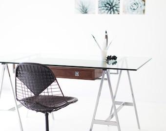 Desk, table, wood desk, computer desk, walnut wood desk, walnut, industrial, industrial desk, office desk, rustic, wood, modern