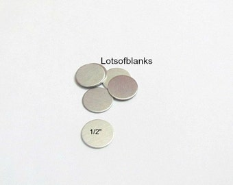1/2 Circle Blanks - 20 gauge -Aluminum Hand stamping metal disc  -Stamping Supplies - round blanks - metal blanks