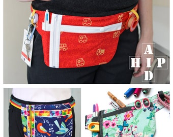 Hip Aid - belt, bum bag, tools, nurses, gardening, sewing, teachers, craft handy holder zip ...