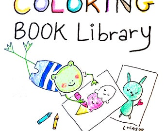 Coloring Book Library PDF Instant Download