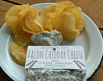 Bacon Cheddar Herb Blend - All Natural Herb Packet - Dried Seasoning Mix - Dried Dip Mix - No Sodium, Sugar, Gluten, MSG - Homemade Dip Mix