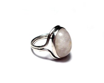Rose Quartz ring silver 59 antique ring rose quartz US size 8.7, vintage Jelwery