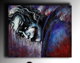 Joker Acrylic Painting Portrait Abstract Modern Art Contemporary Famous People fantasy Pop Art Coloured Painting large Wall Art original