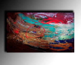 Bright Acrylic Painting Modern Art coloured Contemporary Wall Art Painting on canvas textured painting large painting