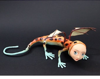 Abella salamander strap Dendrobates OOAK Doll