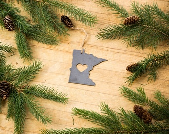 FREE SHIPPING Iron Minnesota Decoration or Christmas Ornament - Recycled Metal