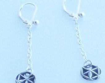 Silver Sterling Geometric Drop Dangle Earrings
