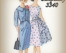 Vintage Summer 1960s Jackie O Style Dress Simplicity 3340