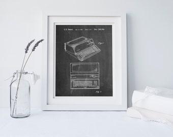 Apple III Computer Patent Poster, Apple Print, Technology Art, Computer Decor, Steve Jobs, PP0171